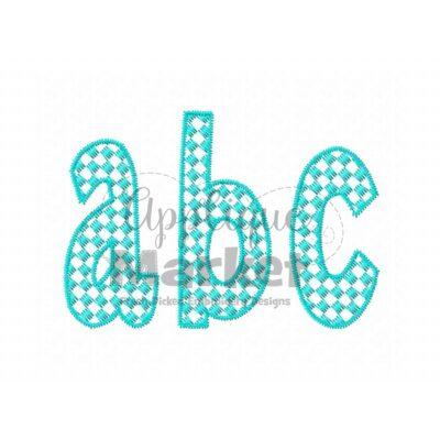 Henry Checkered Pattern Fill Alphabet