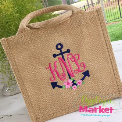Anchor Monogram Flowers