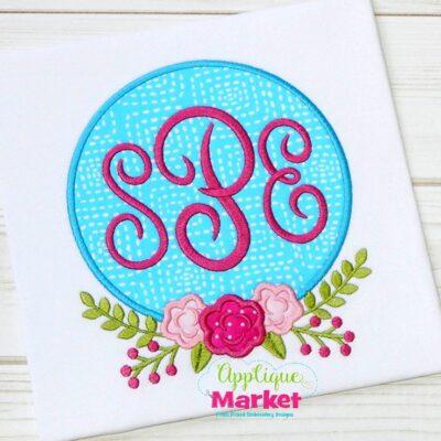 Rose Monogram Frame