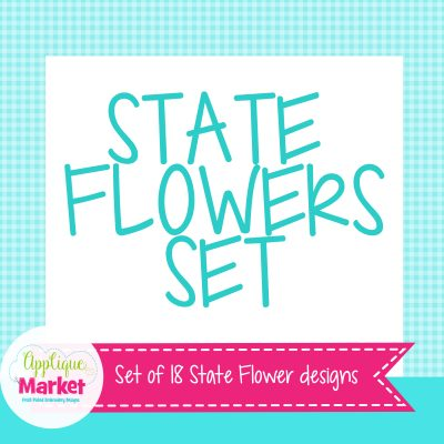 State Flowers Set
