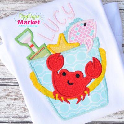 Beach Bucket Hanging Crab