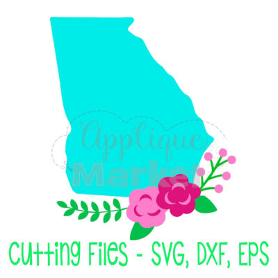 Georgia flowers SVG
