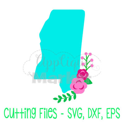 Mississippi flowers SVG
