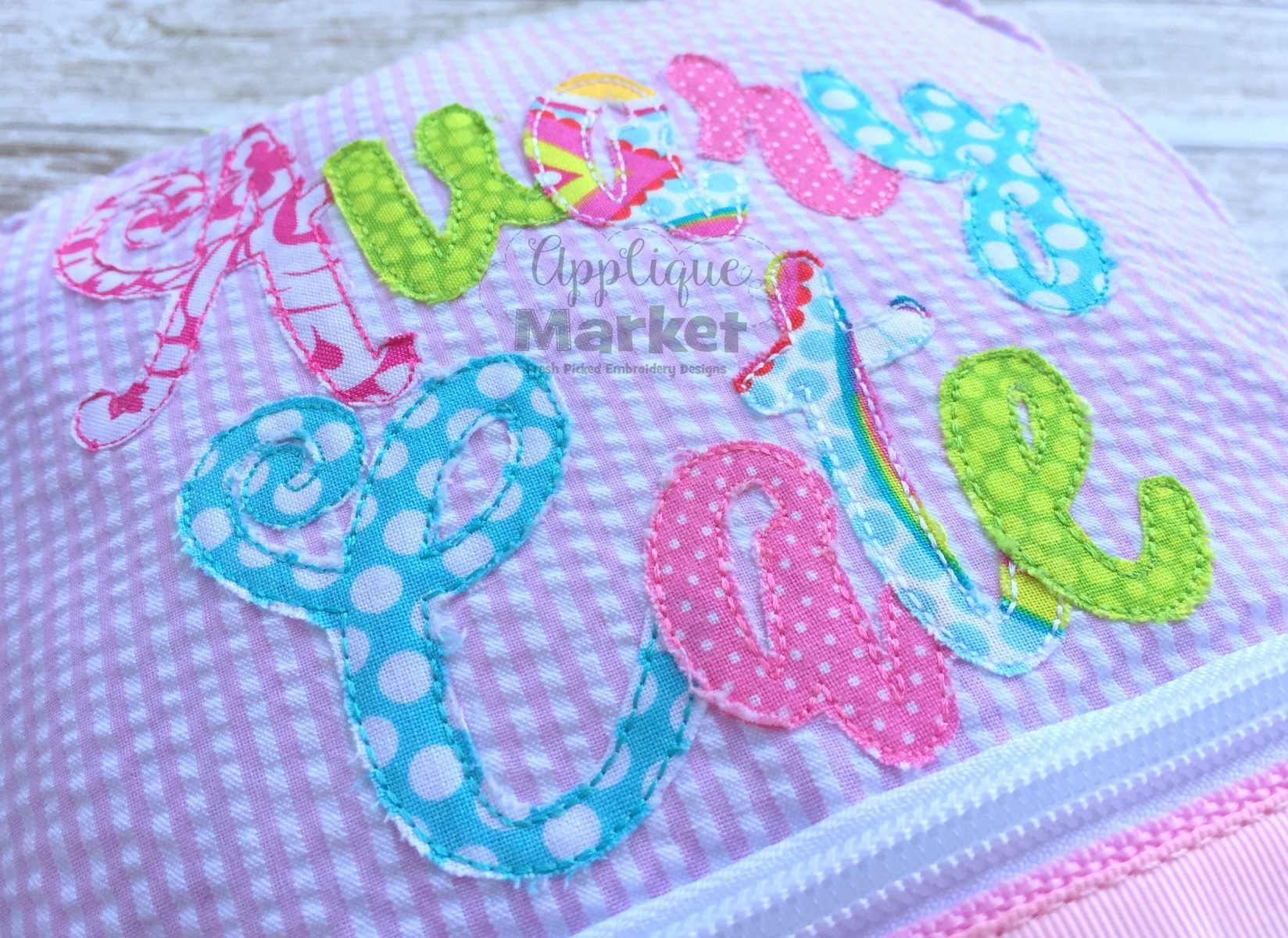 ballerina script applique bean stitch