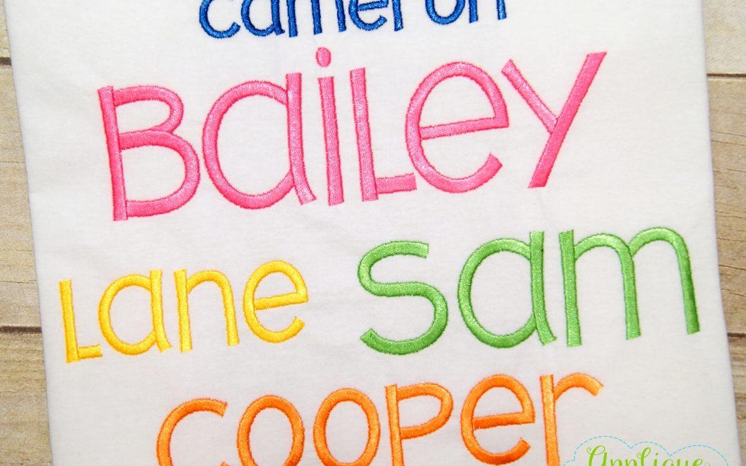 Bailey Satin Alphabet