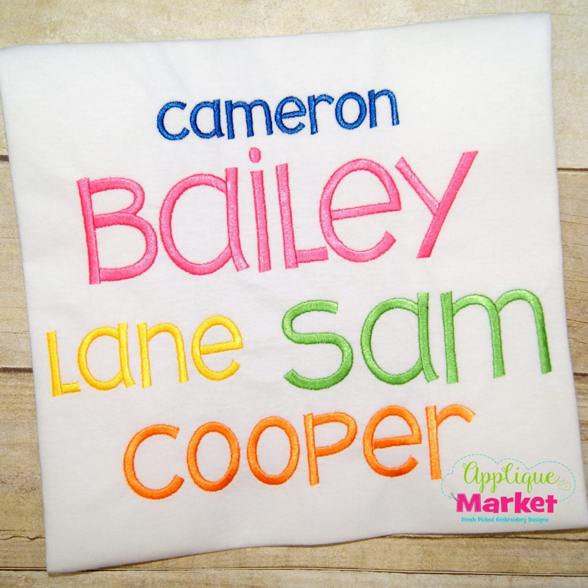 Bailey Satin Embroidery Font