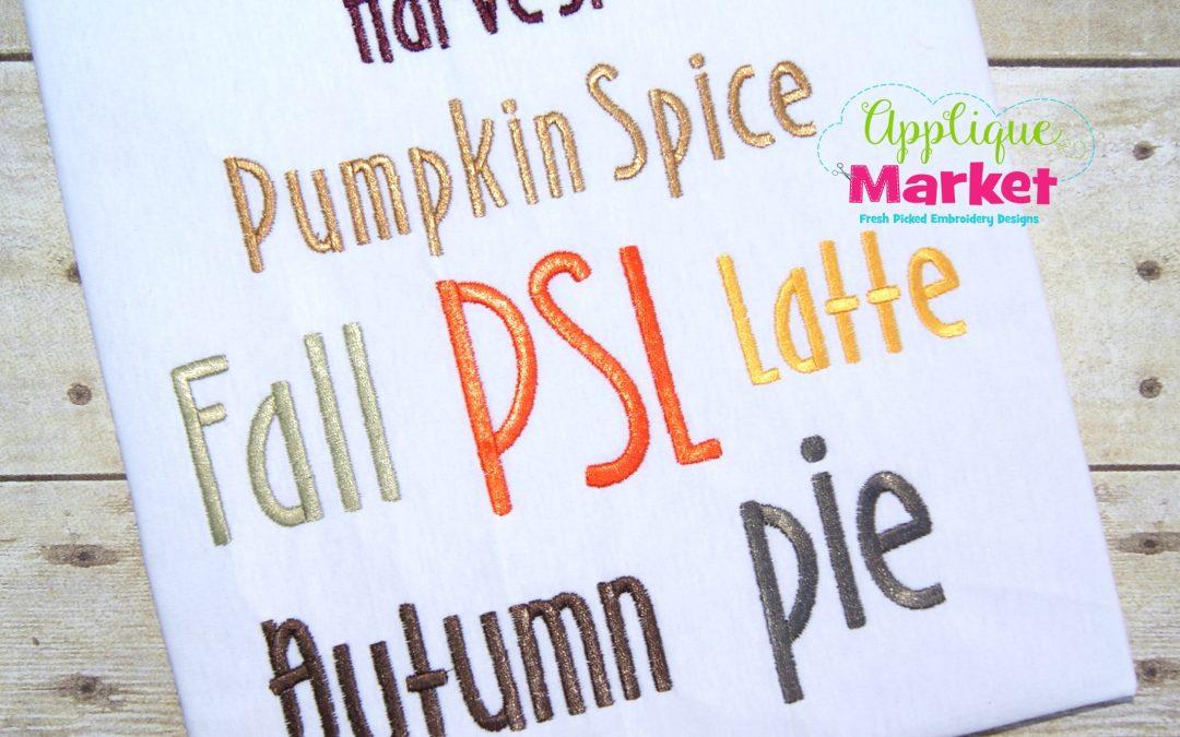 Pumpkin Spice Alphabet