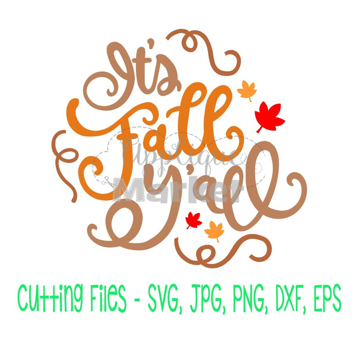 35+ Happy Fall Y'all Cutting File Design