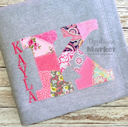 Patchwork Serif Applique Alphabet