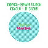 Embroidery knock down stitch circle