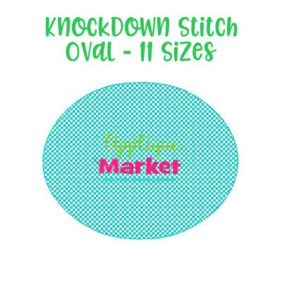 knockdown stitch oval
