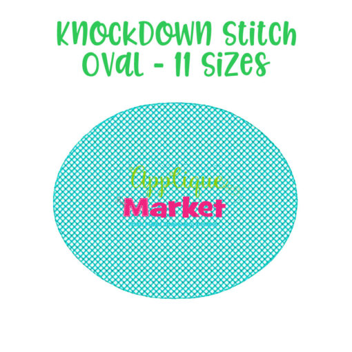 knockdown stitch oval