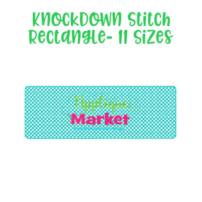 knockdown stitch rectangle
