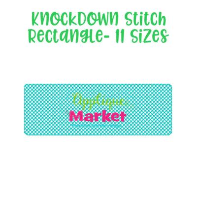 knockdown stitch rectangle