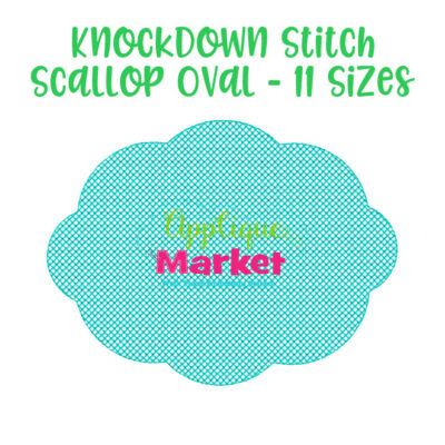 knockdown stitch scallop oval