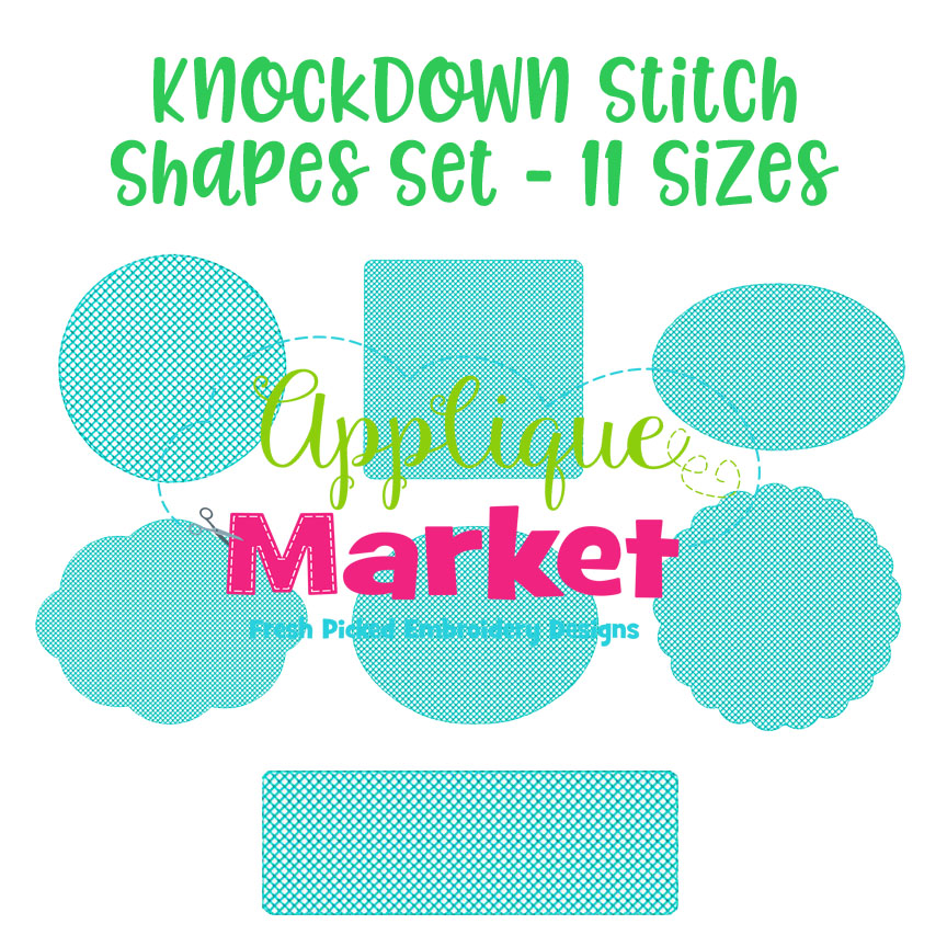 knockdown stitch shapes set