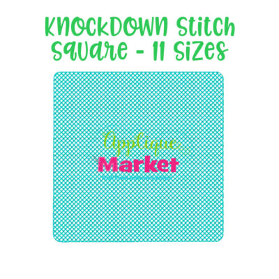 knockdown stitch square