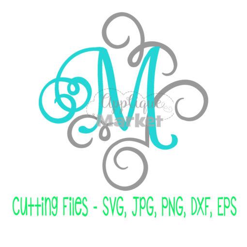 Fancy Flourish Font SVG