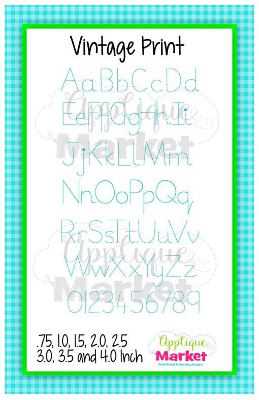 App Market Font Printable Vintage Print