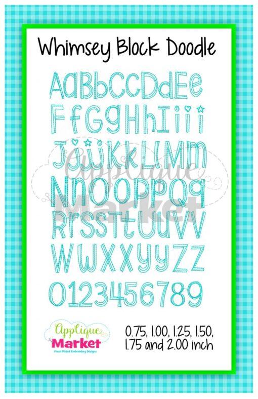 App Market Font Printable Whimsey Block Doodle