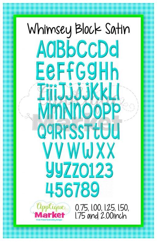 App Market Font Printable Whimsey Block Satin