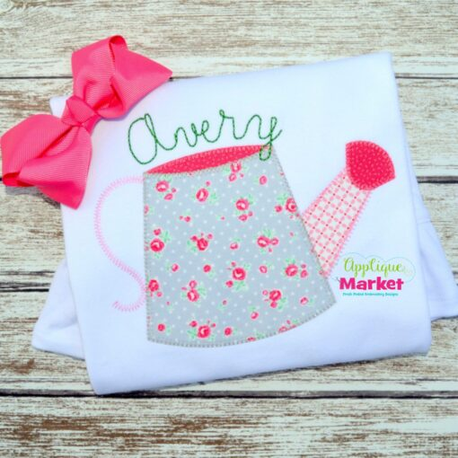 Watering Can Blanket Stitch