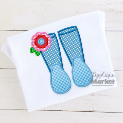 Rain Boot Flower Satin