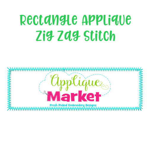 Rectangle Applique Zig Zag Stitch