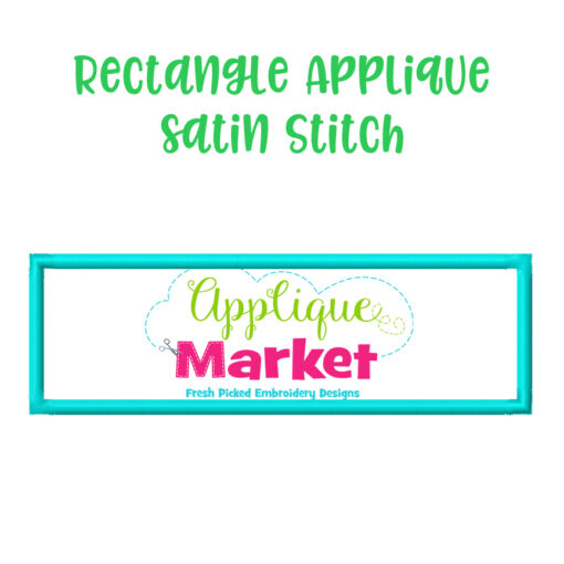 Rectangle Applique Satin Stitch