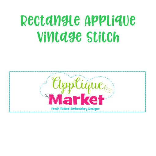 Rectangle Applique Vintage Stitch