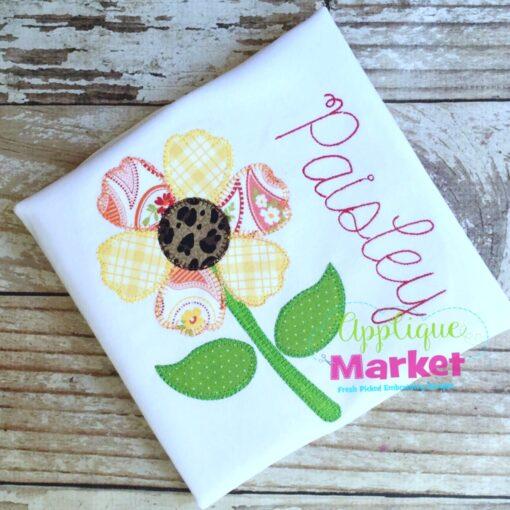 sunflower blanket stitch
