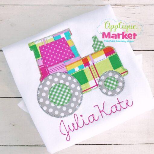 Tractor Blanket Stitch