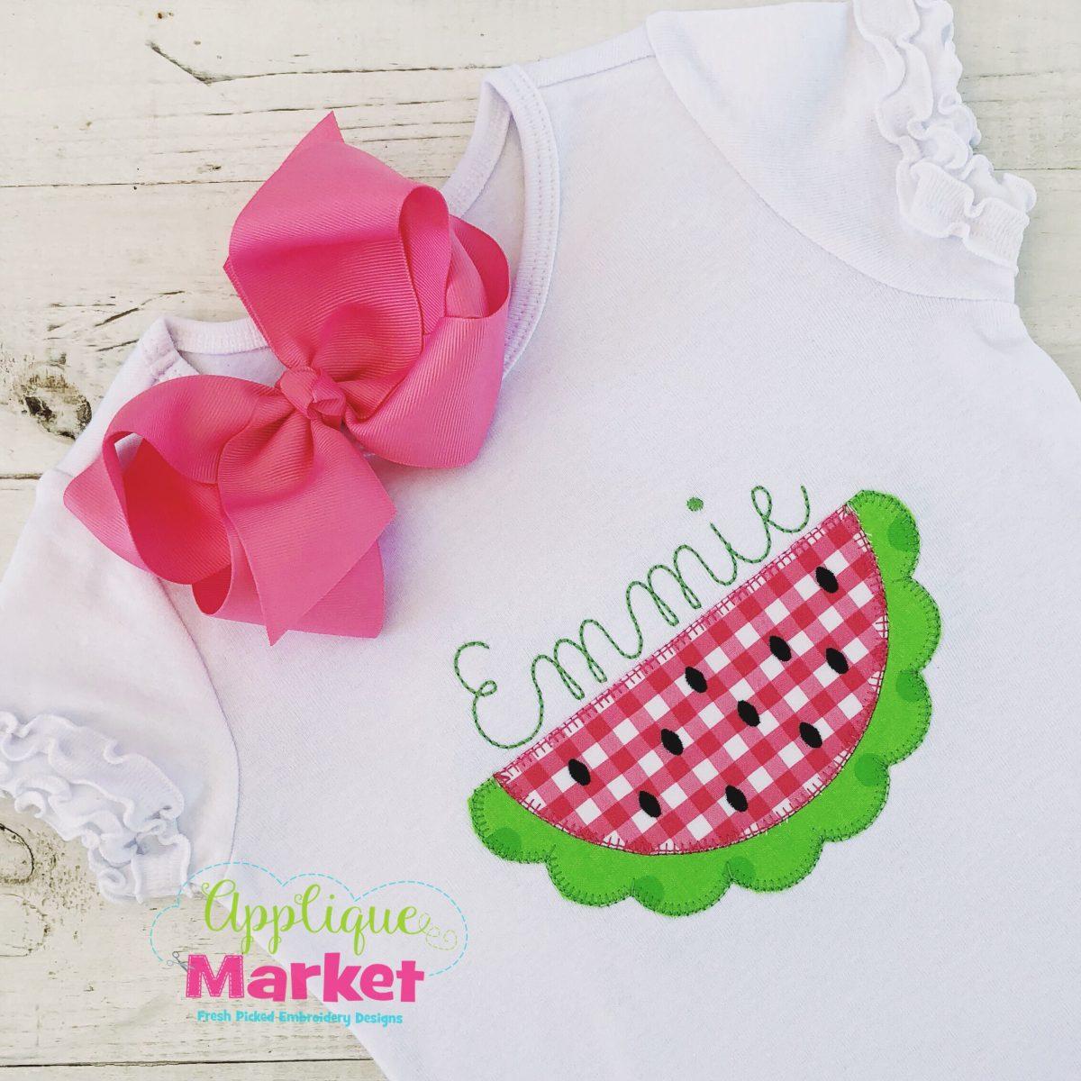 Watermelon Scallop Blanket Stitch