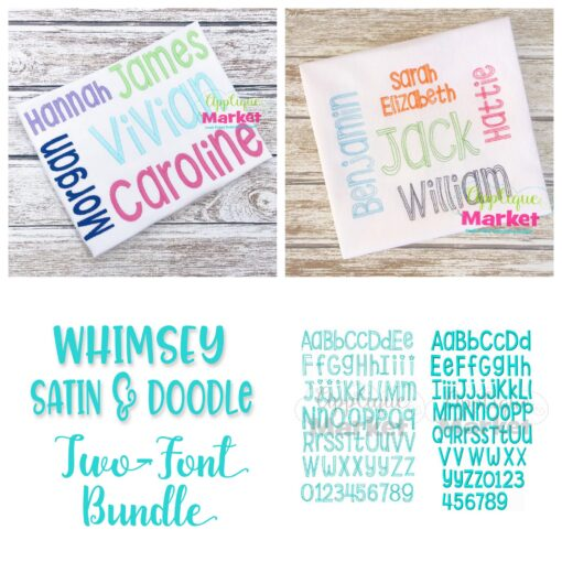 Whimsey Block Embroidery Alphabet Bundle