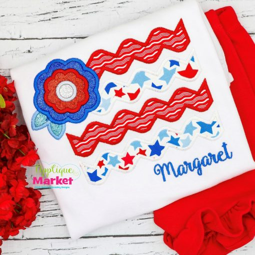Flag Flower Satin
