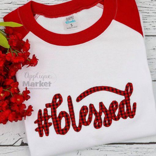 #Blessed Cursive Bean Stitch