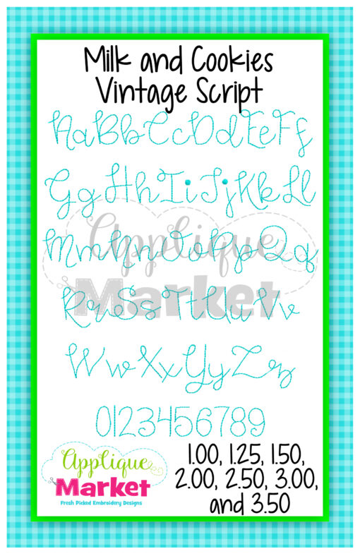 Milk and Cookies Vintage Alphabet Duo