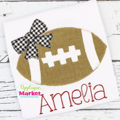 Football Bow Blanket Stitch Sample2