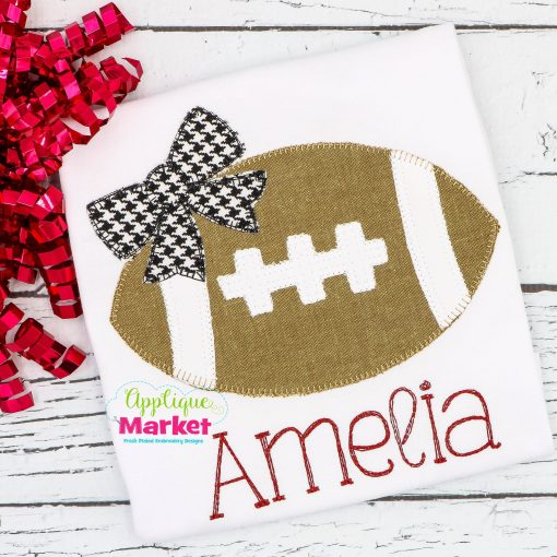 Football Bow Blanket Stitch