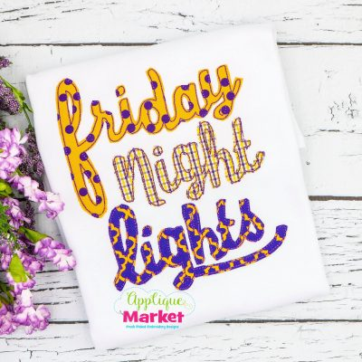 Friday Night Lights Cursive Bean Stitch