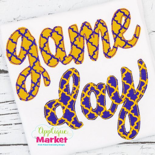Game Day Cursive Bean Stitch