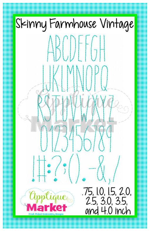 Skinny Farmhouse Vintage Alphabet Printable