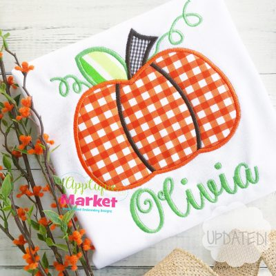 Plump Pumpkin Applique Design Updated