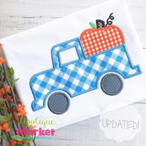 Pumpkin Truck Applique Design Updated