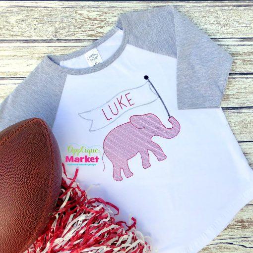 elephant banner sketch