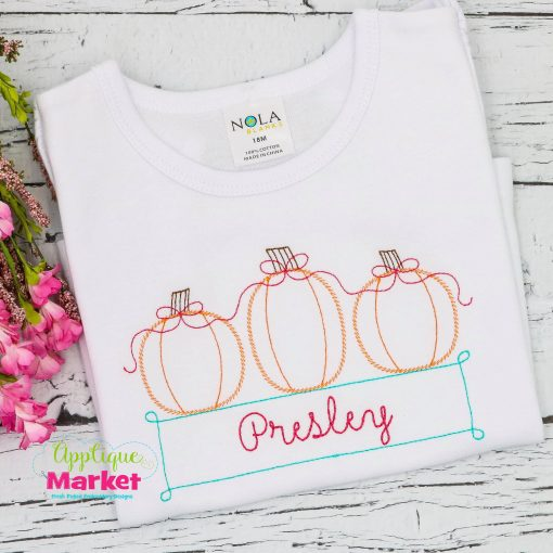 pumpkin trio vintage box