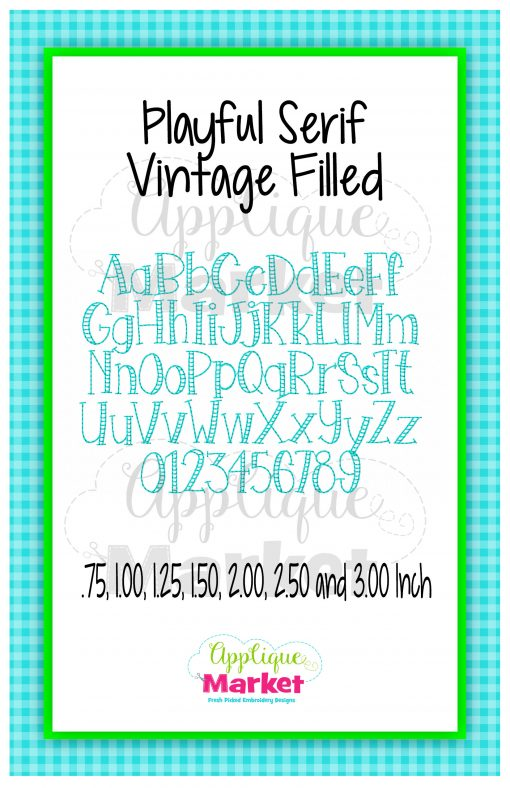 App Market Playful Serif Vintage Filled Font Printable
