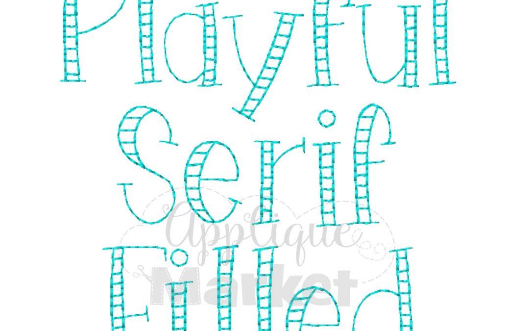Playful Serif Filled Vintage Alphabet