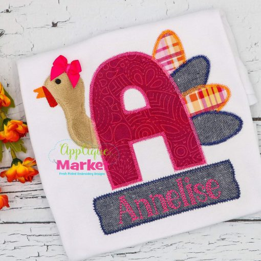 Applique Turkey Alpha Zig Zag