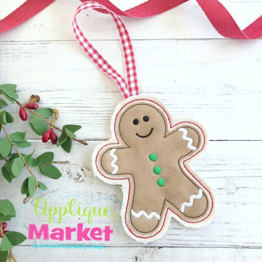 Gingerbread Boy ITH Ornament